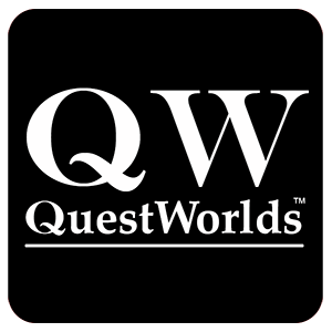 Bild: QuestWorlds Logo - schwarz